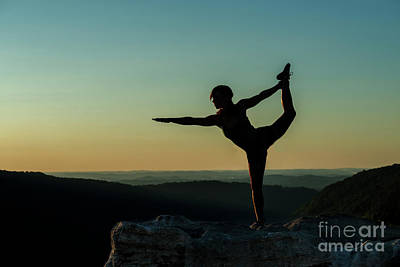 Photograph - Yoga At Sunset by Dan Friend
