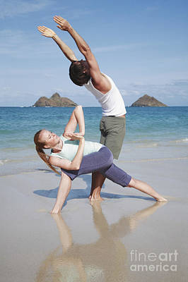 Yoga Couple Art Print