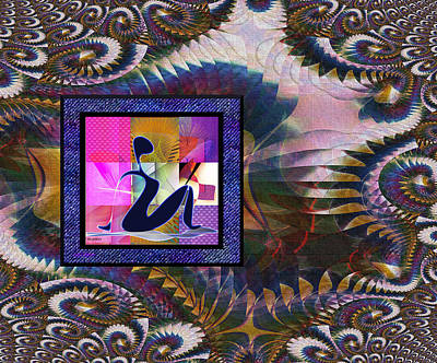 Digital Art - Yoga Dreaming by Iris Gelbart