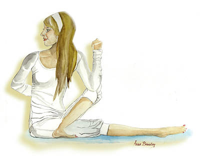Painting - Yoga Girl by Anne Beverley-Stamps