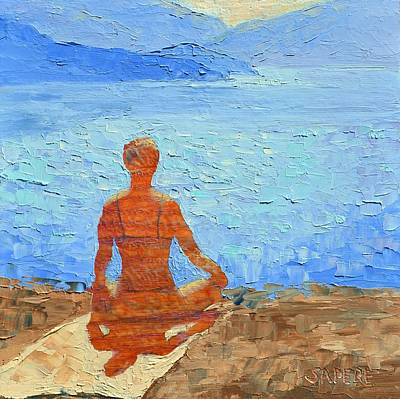 Lynee Sapere Wall Art - Painting - Yoga 3 by Lynee Sapere