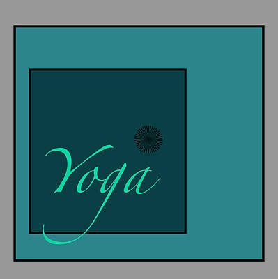 Digital Art - Yoga In Blue by Kandy Hurley