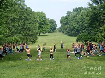 Photograph - Yoga In Tower Grove Park 2 by Nancy Kane Chapman