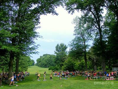 Photograph - Yoga In Tower Grove Park by Nancy Kane Chapman