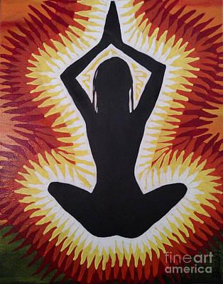 Painting - Yoga Lotus Pose by Brenda Kato