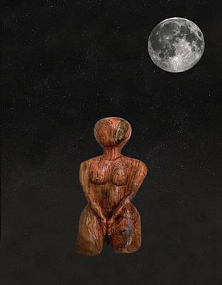Mixed Media - Yoga Mulabandhasana by Eric Kempson