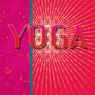 Digital Art - Yoga Pink Red Logo  by ReadyForYoga Online-Shop