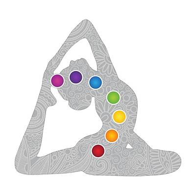 Digital Art - Yoga Pose Chakra Design by Serena King