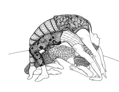 Drawing - Yoga Sandwich by Jan Steinle