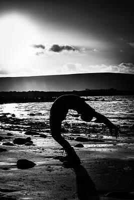 Abstract Male Faces - Yoga Stretch by James Fitzpatrick