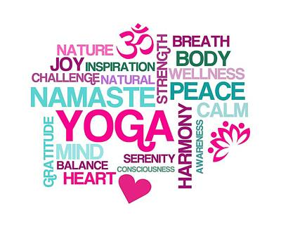 Yoga Studio Pastel Harmony Art Print