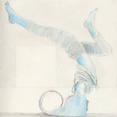 Empower Drawing - Yoga Takes Me To Another World.  by R G Alexander