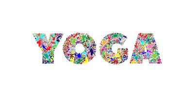 Yoga Word Art Art Print