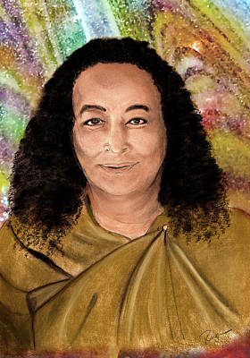 Digital Art - Yogananda by Roger Hanson