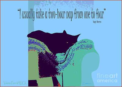 Yogi Cat Nap Art Print