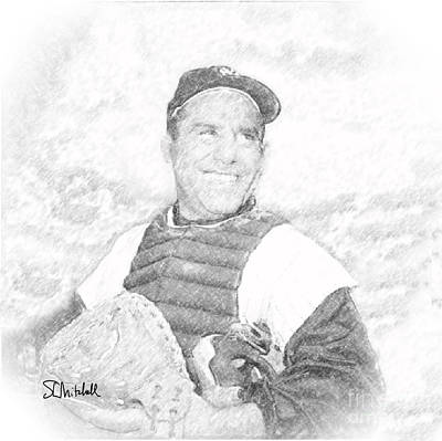 Drawing - Yogi Berra by Stephen Mitchell