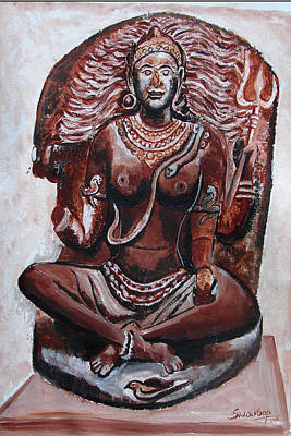 Painting - Yogini by Anand Swaroop Manchiraju