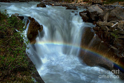 Photograph - Yoho River Falls Rainbow by Adam Jewell