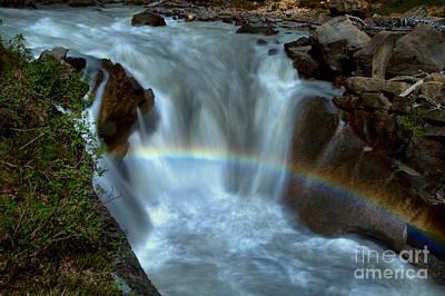 Yoho River Falls Rainbow Art Print