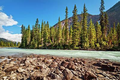 British Columbia Photograph - Yoho River Near Takakkaw Falls by Joan Carroll