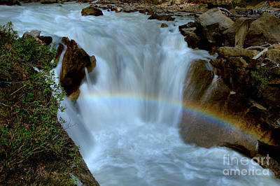 Photograph - Yoho River Waterfall Rainbow by Adam Jewell