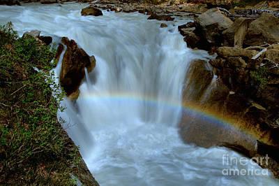 Yoho River Waterfall Rainbow Art Print