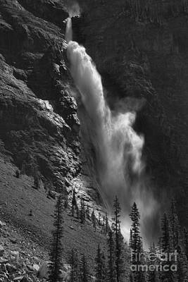Photograph - Yoho Takakkaw Falls Black And White by Adam Jewell