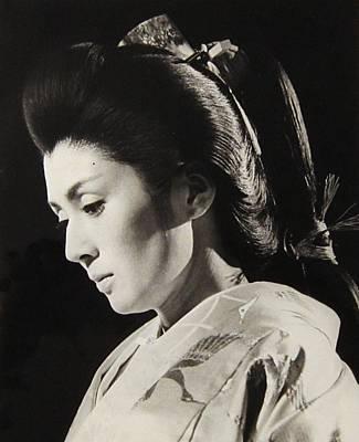Geisha Photograph - Yoko Tsukasa Actor 1960s by Dan Twyman