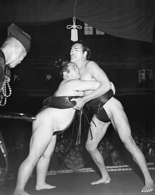 Yokozuna  Sumo Wrestler Art Print by Underwood Archives