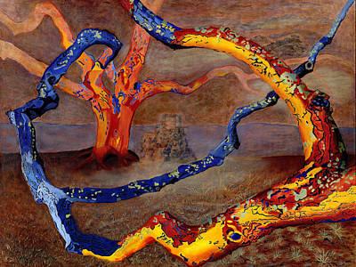 Painting - Yolande's Great Oak by Vera Smith