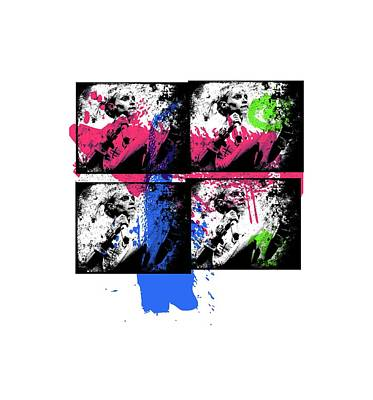 Famous Stencils Digital Art - Yolandi Graffiti by Jera Sky