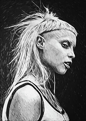 Digital Art - Yolandi Visser by Taylan Apukovska