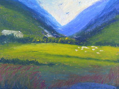 Art Print featuring the painting Yonder by Trilby Cole