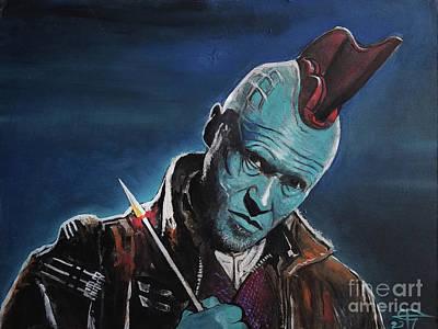 Painting - Yondu by Tom Carlton