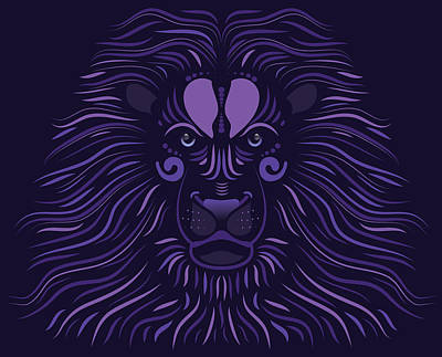 Yoni The Lion - Dark Art Print