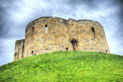 Photograph - York Castle And Daffodils by David Pyatt