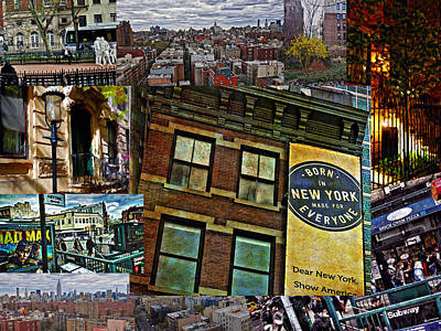 Photograph - York City Collage by Joan Reese
