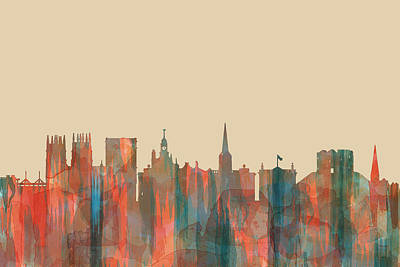 Digital Art - York England  Skyline by Marlene Watson