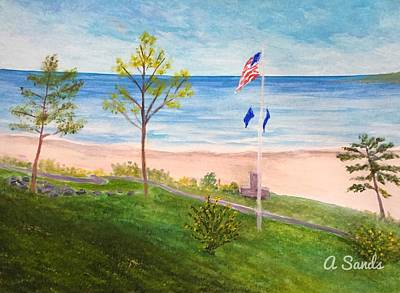 Painting - York Harbor by Anne Sands