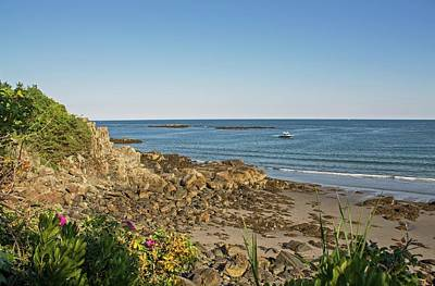 Photograph - York Harbor Beach Maine 2 by Michael Saunders