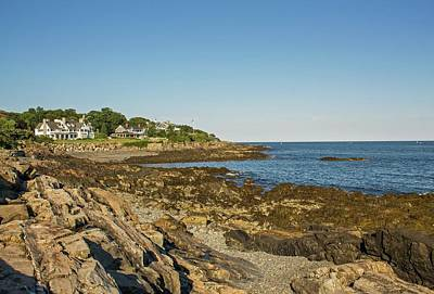 Photograph - York Harbor Maine Cliff Walk 2 by Michael Saunders