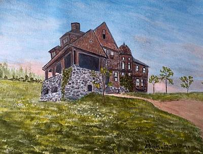 Painting - York Hospital Circa 1907 by Anne Sands