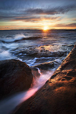 York Maine Seascape Art Print by Eric Gendron