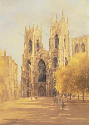 Bell Tower Painting - York Minster by Peter Miller