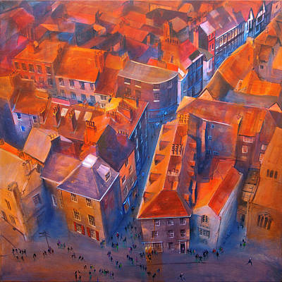 English Painting - York Minster Yard by Neil McBride