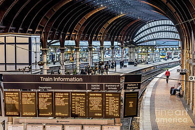 Photograph - York Station 2 by David  Hollingworth