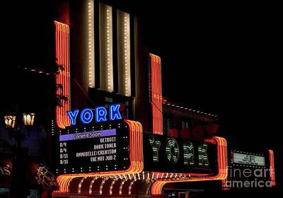 Photograph - York Theater - 2 by David Bearden
