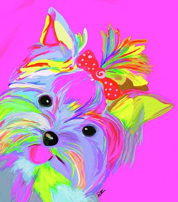 Yorkshire Terrier Wall Art - Painting - Yorkie Dorkie by Patti Siehien