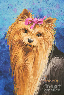 Digital Painting - Yorkie by John Francis