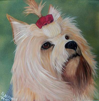 Canine Painting - Yorkie Love by Debbie LaFrance